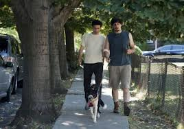 Ray and Adam with dog